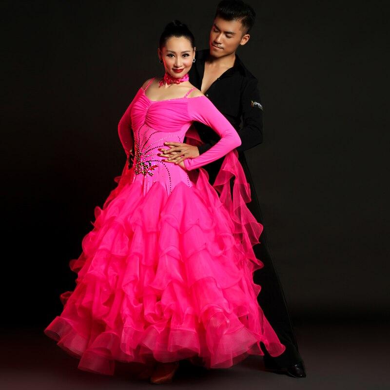 Moderno deju greznie sieviešu kostīmi. Standarta balles deju kostīmu kleita. Flamenko svārki priekšnesumam 18