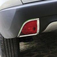 Jameo Auto ABS Chrome Car Rear Fog Light Protection Cover Back Fog Lights Covers Fog Lamp