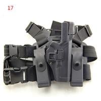 Tactical Serpa Level 3 Light Bearing Right Hand Drop Leg Auto Lock Duty Pistol Holster for Glock 17 19 22 23 31 32