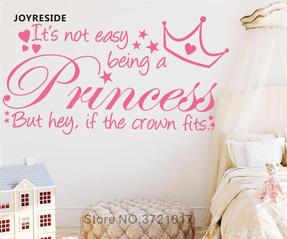 JOYRESIDE Quote It\'s Not Easy Being A Princess Wall Decal Vinyl Sticker  Girls Bedroom Home Decor Interior Decor Wall Decal A591