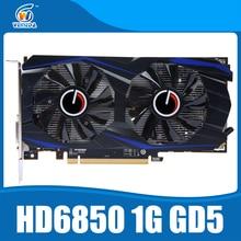 Original graphics cards ATI Radeon HD6850 1GB GDDR5 graphic card HDMI DP DVI port for desk PC.