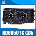 Original placas gráficas ATI Radeon HD6850 1 GB GDDR5 placa gráfica HDMI porta DVI DP para mesa PC