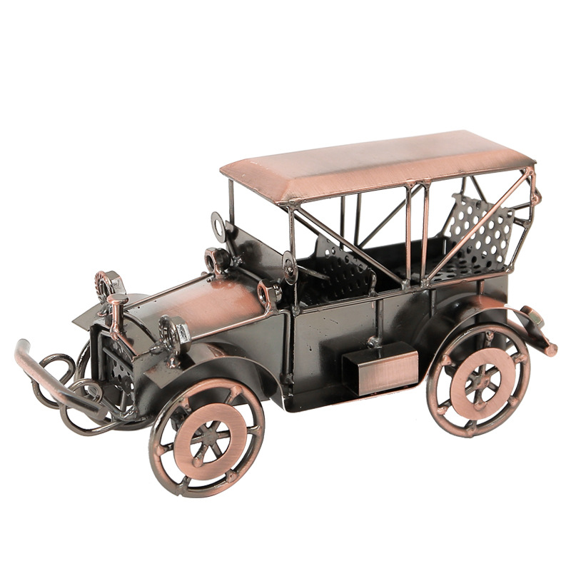 Classical alloy classic car model artwork Indoor living room desktop home decoration ornaments in Figurines Miniatures from Home Garden