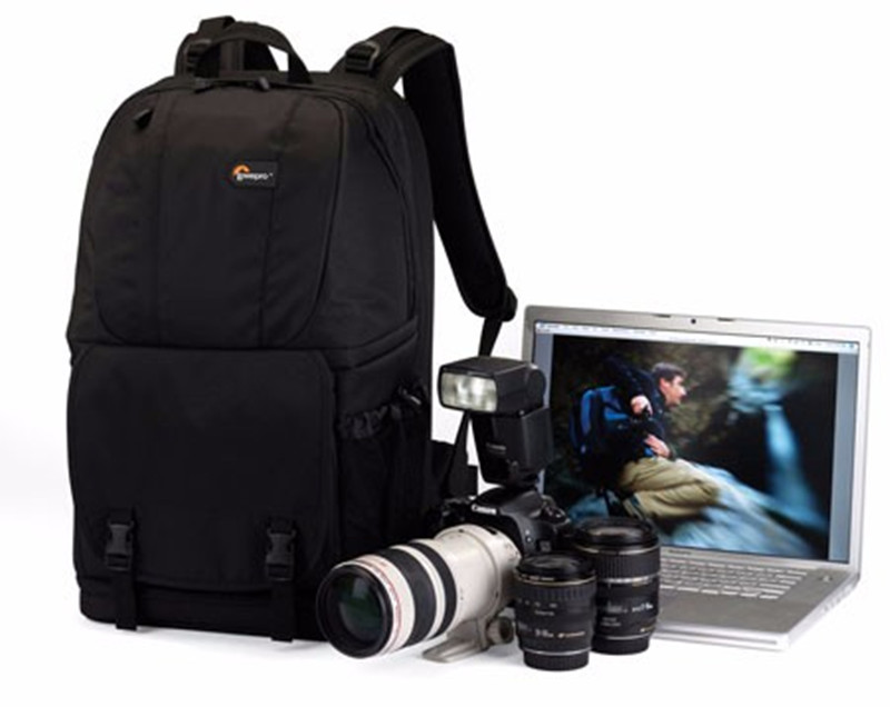 Promotion Ventes Véritable Lowepro Fastpack 350 AW Photo DSLR Camera Bag Digital SLR Sac À Dos ordinateur portable 15.4 avec Tous Les Temps Cove
