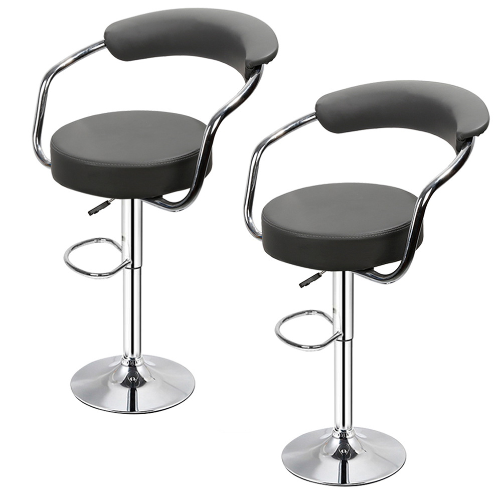 2PCS Fashion Stylish Bar Chair Lifting High Stool Swivel Barstool Chair Soft PU Leather Bar Dinning Chair For Home Kitchen HWC