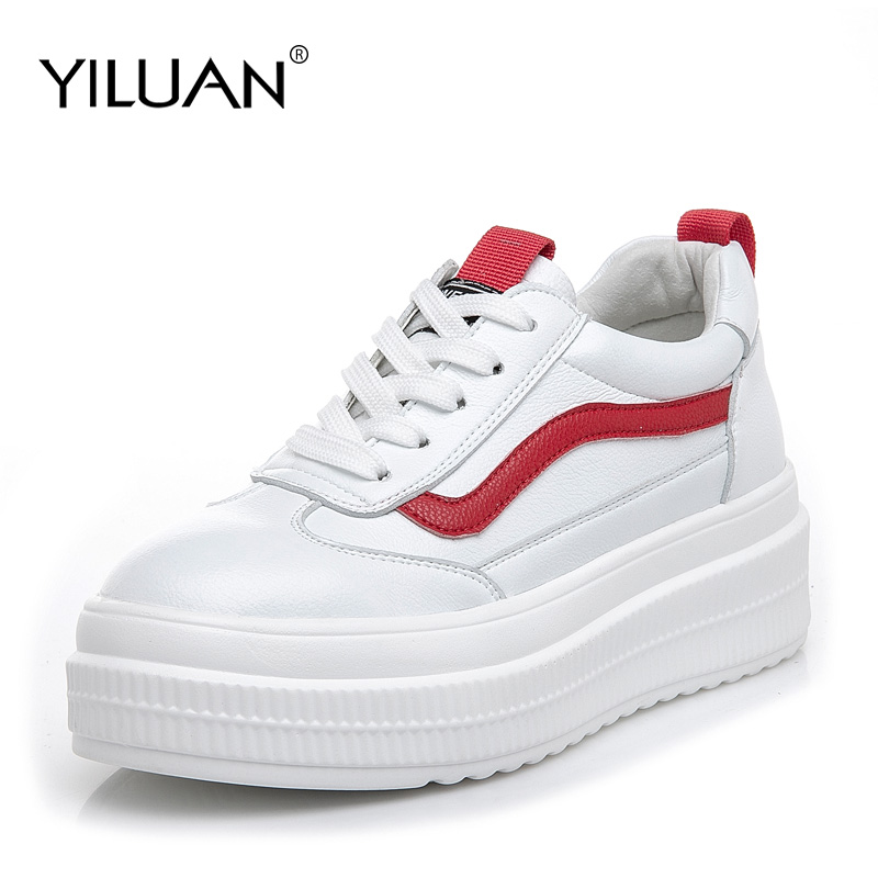 2019 Spring Autumn Sneakers white shoes student female new wild Lace Up small code 32 40
