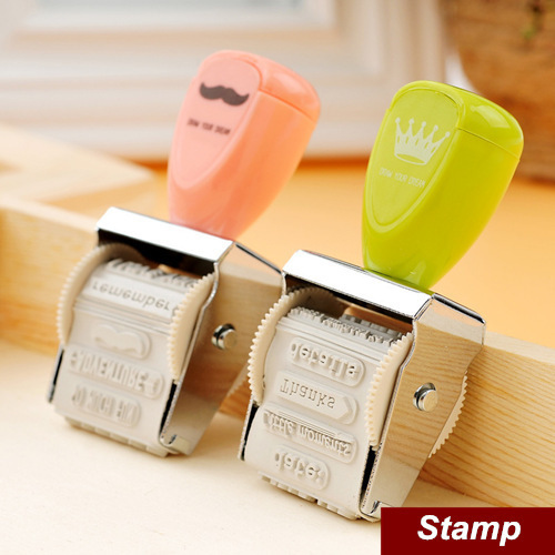 2 pcs/Lot Crown Roller Stamp Vintage stamp for Wedding Scrapbooking zakka carimbo deco material school supplies 6463