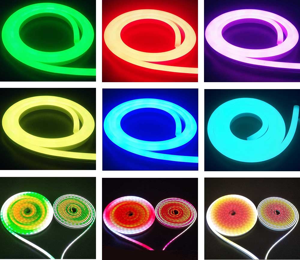 colorful neon strips