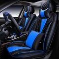 6d styling tampa do assento de carro almofada geral sênior de couro-car covers para benz bmw audi honda ford nissan