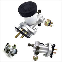 Hydraulic Brake Master Cylinder for Go Kart Buggy 90cc 110cc 125cc 150cc 200cc 250cc 1set 2 in 1 front handle lever hydraulic disc brake 130mm disc fit for atv 350cc 200cc 250cc bike go kart buggy scooter parts