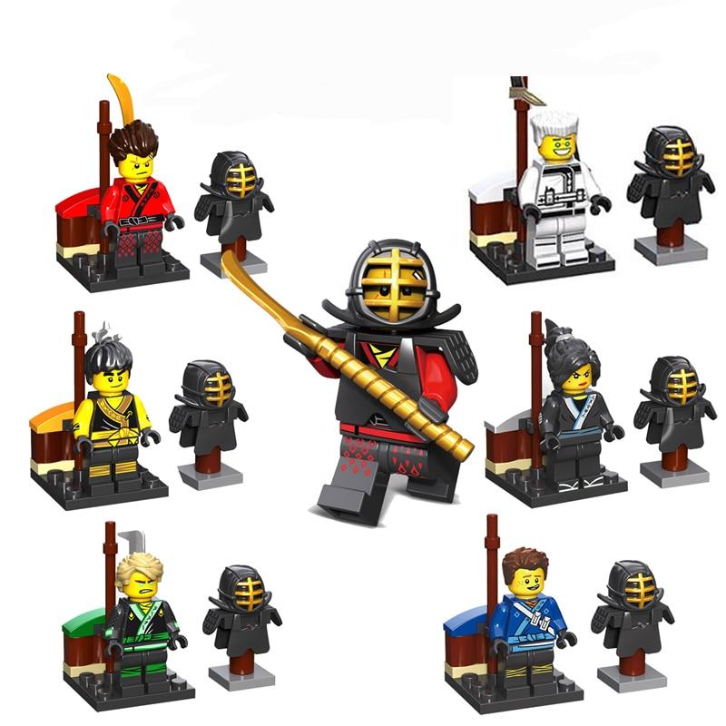2018 Új Decool 6db NinjagoINGlys Kai Jay Cole Lloyd Zane Építőelemek Játékok Kompatibilis LegoINGly ninja Kis emberek