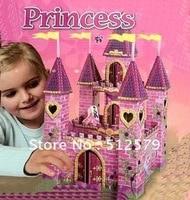 3D Puzzle Size 61x28x28cm 3D PUZZLE DIY Princess Palace 3d Educational Toys Sticky Mosaics For Decoration