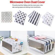 1 шт крышки для микроволновой печи двойные карманы сумка для хранения на кухне водонепроницаемый жир защита от пыли крышки для микроволновой печи