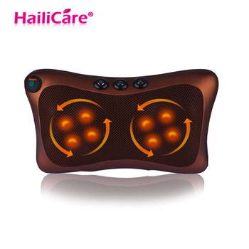 8 Heads Massage Pillow for Electric Infrared Heating Kneading Magnetic Therapy Neck Back Waist Body Relaxation Shiatsu Massager