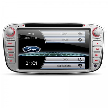 """7"""" Silver 2 din Special Car DVD for Ford Focus 2007-2010 & Ford S-Max 2008-2011 & Ford Mondeo 2004-2011 & Ford C-Max 2008-2010"""
