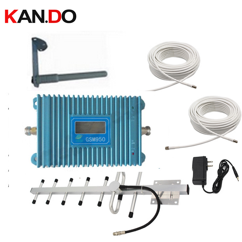 LCD Display Function GSM 900Mhz Mobile Phone Signal Booster W/ 15 Meters Cable+Antennas,900Mhz GSM Repeater Signal Amplifier