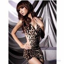 New Sexy Womens Leopard Lingerie Underwear Sleepwear Backles