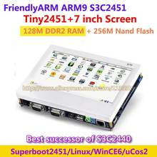 FriendlyARM ARM9 Successor of S3C2440 , TINY2451 + 7 inch TFT 128M Ram 256M Nand Flash  S3C2451 Development Board  Linux Wince6