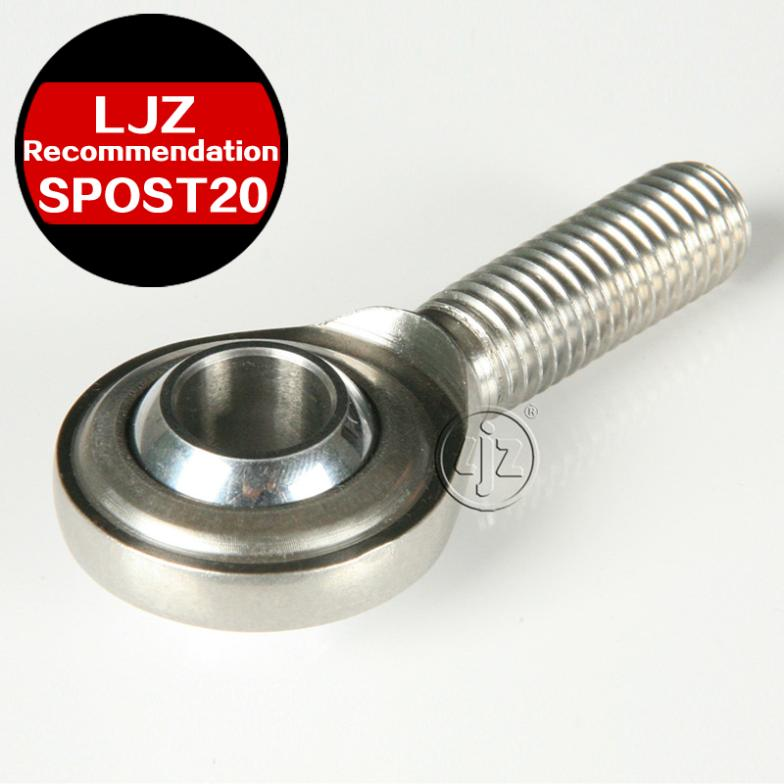 Stainless steel rod ends Bearings M20*1.5 Right and Left hand thread 20mm ball 100 Pieces/lot 10pcs lot reset switch left and right shaft length 15mm 20mm