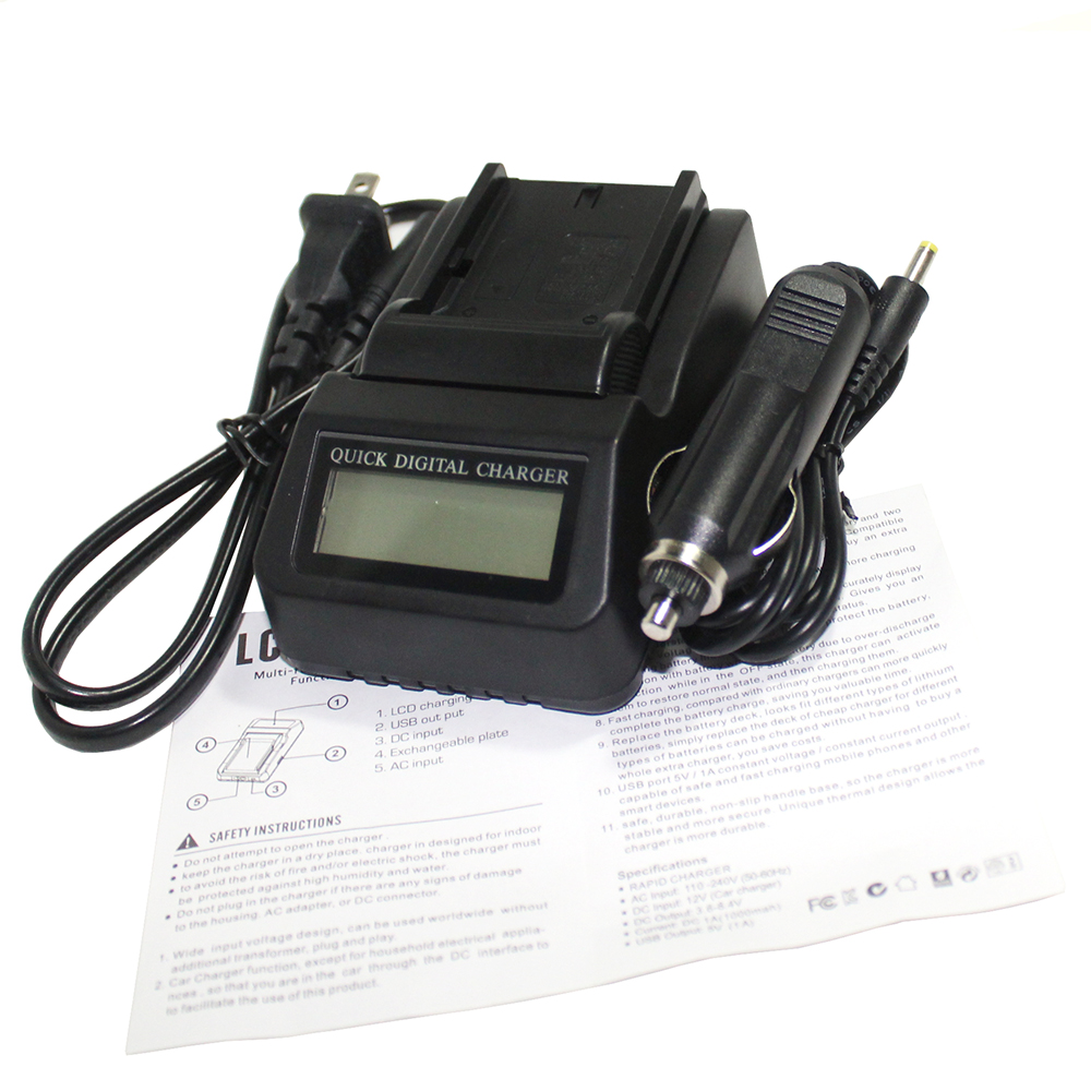F960 F970 New Camera Battery Charger 3X faster LCD Charger for <font><b>Sony</b></font> NP-F970 NP-F960 F960 DCR-<font><b>VX2100</b></font> HDR-AX2000 FX1 FX7 FX1000 image