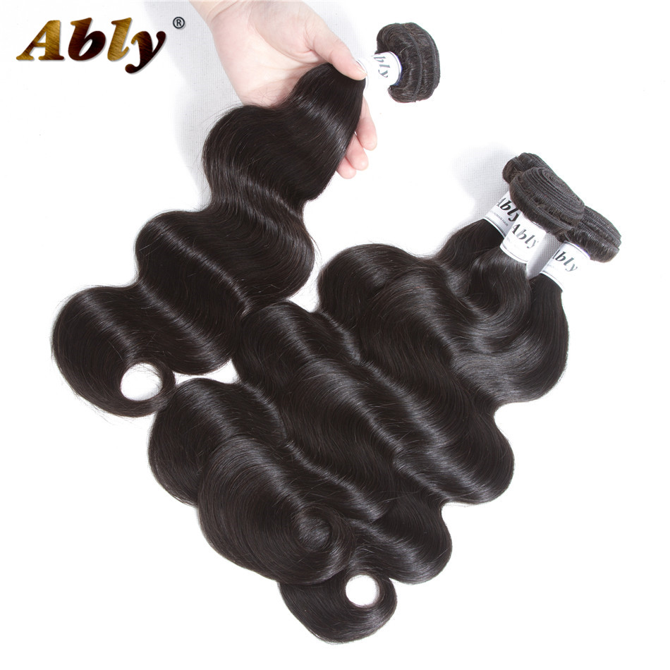Raw Indian Body Wave Human Hair 4 Bundles Ably 100% Remy Hair Weaving Hair Weft Weave No Tangle Body Wave Human Hair Bundles