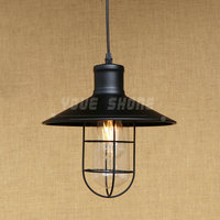 Amerikan country tarzı retro endüstriyel depo cam lamba ferforje bar restoran e27 220 v 110 v çubuğu kolye ışık