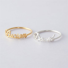 HIYONG Custom Name Ring for Her Gold Silver Rings Personalized Jewelry Men Women DIY Accessories For Girls Lovers