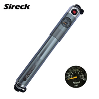 Sireck Bicycle Pump With Pressure Gauge Mini Fietspomp Aluminum Alloy Mountain Bike Pump Portable Cycling Bike Tire Fork Pump