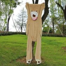 """Недорогое 260 см/10"""" огромное большое ненабитое животное плюшевое покрытие с медведем плюшевая мягкая игрушка-подушка чехол(без вещей) подарок на Рождество для девочек"""