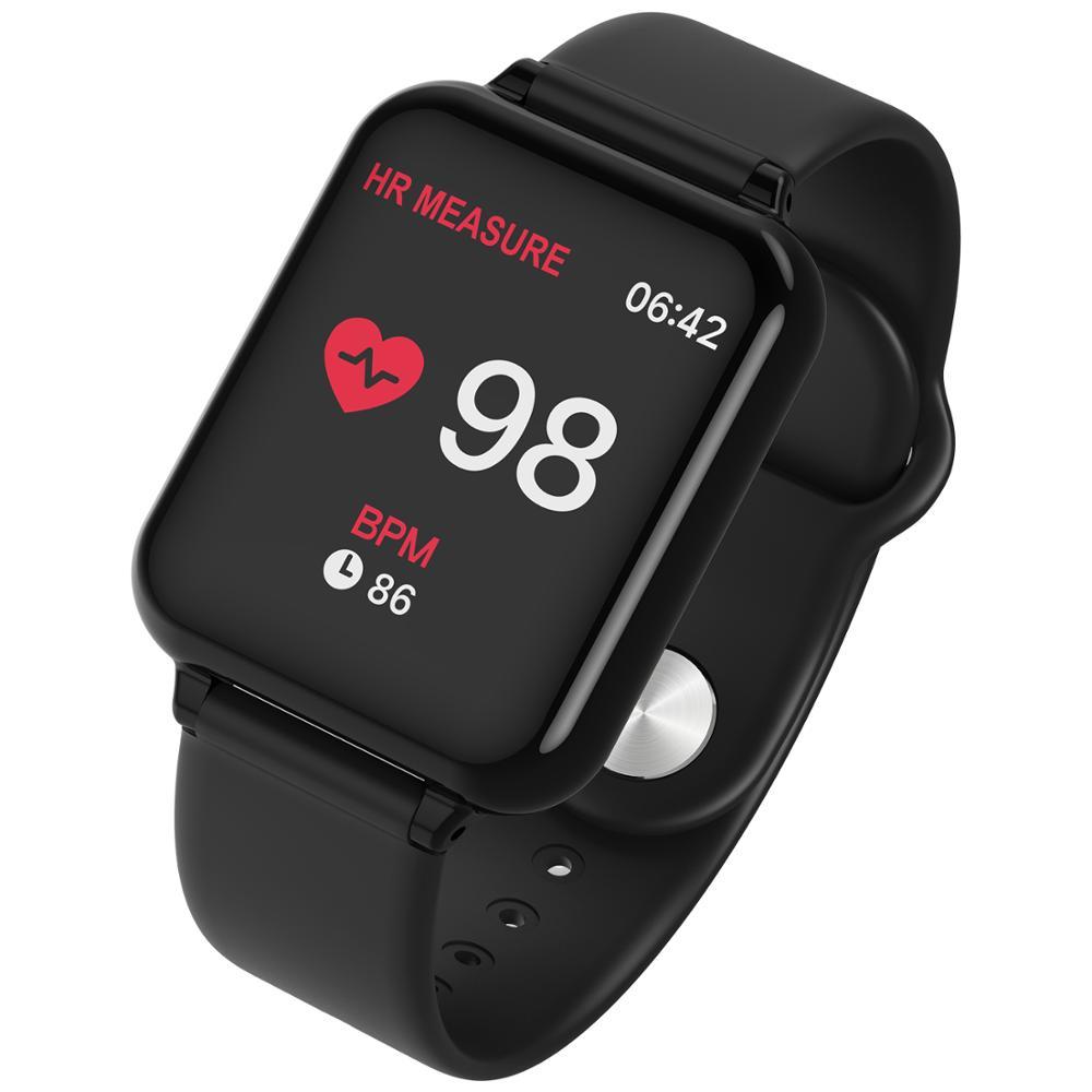 696 Relógio Inteligente Pressão Arterial B57 Rastreador De Fitness Heart Rate Rastreador IP67 Waterproof Bluetooth Inteligente Pulseira Relógio de Pulso do Esporte