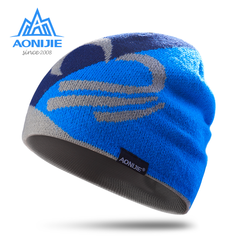 AONIJIE Winter Knitted Hats Snowboarding Cap Winter Windproof Thick Warm Running Outdoor Sports Ski Running Caps