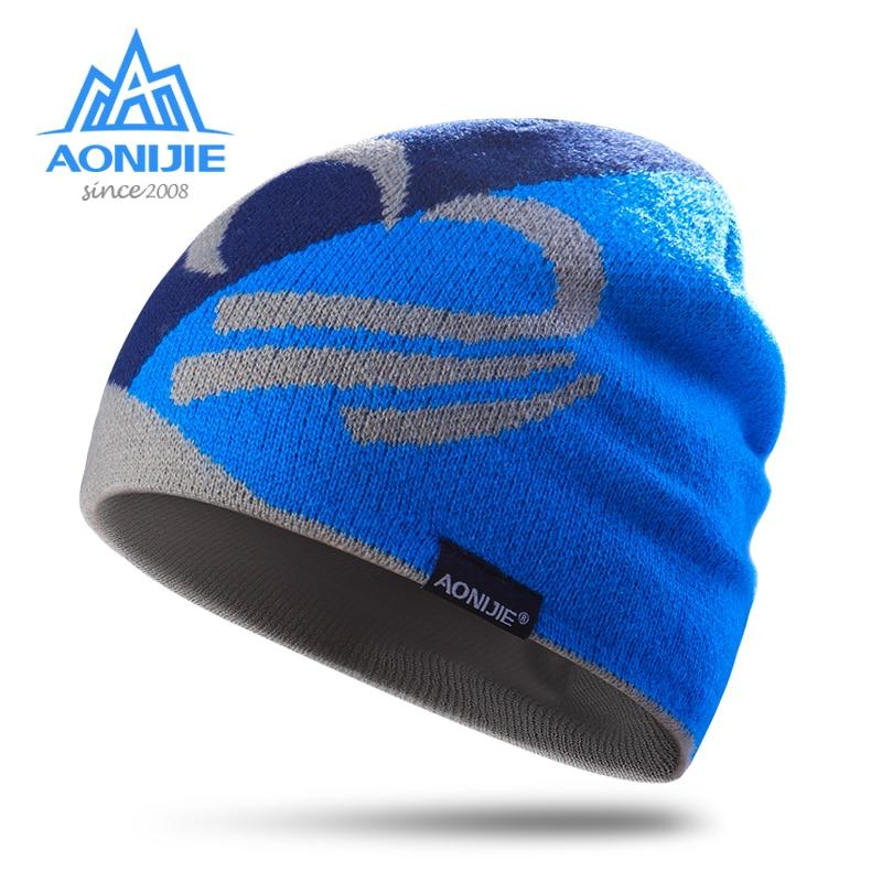 Gorros tejidos de invierno AONIJIE gorra de snowboard invierno a prueba de viento grueso cálido correr al aire libre deportes esquí correr gorras