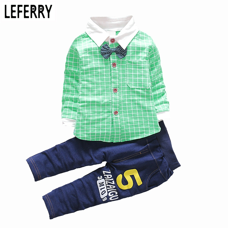 Baby Boy Clothes Set Cotton Shirt + Pants Spring Autumn Infant Clothing Baby Boy Clothing Set Toddler Boy 2016 New Baby Suit