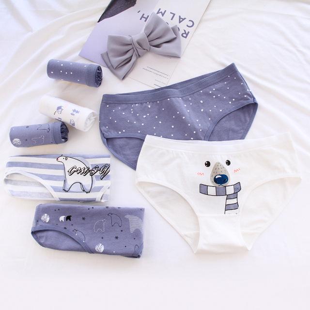 Women's Polar Bear Print Cotton Briefs