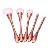 5 יחידות צבעוני חמה למכירה מברשות איפור קוסמטיקת סומק אבקת איפור קרן כלי מברשת טיפול פנים מברשת
