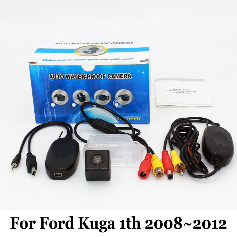 For Ford Kuga 1th MK1 2008~2012 / RCA AUX Wired Or Wireless / CCD Night Vision / HD Wide Lens Angle / Car Rear View Camera wired hd ccd ip68 waterproof 170 wide angle ir night vision car rearview camera for vw new bora