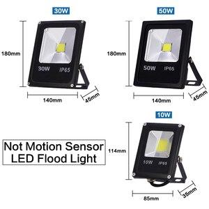 Image 2 - Sensor de movimento 220 v 10 w 30 w 50 led luz de inundação à prova dfocágua ip65 refletor holofote foco conduziu a luz exterior do ponto