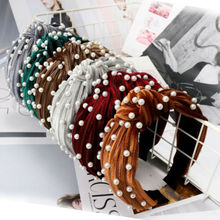 Women Fabric Band Hairband Headband Twist Bow Knot Cross Headwrap Cute