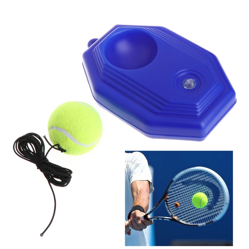 OOTDTY Tennis Ball Trainer Tool Rubber Racket Practice Octagon Baseboard Elastic Rope Sparring