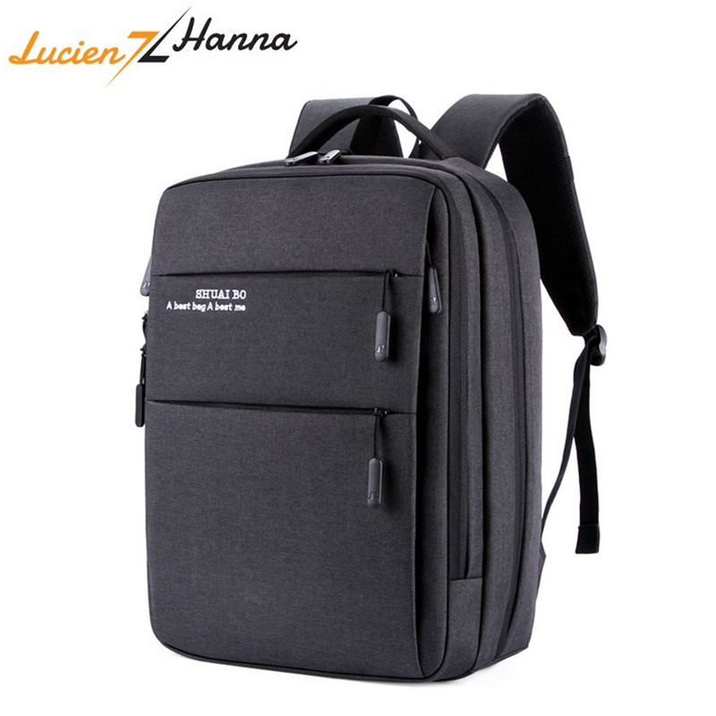 Men Laptop Backpack With Usb Charging Port Travel Backpack Women 15.6 Inch Mochila Schoolbag For Teenager Waterproof Anti Theft