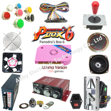 Jamma Arcade game kit Pandora Box 6 /1300 in 1 arcade /spare parts to built Bar-top machine or upright