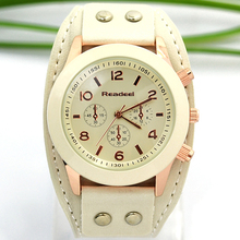 Relogio Readeel femmes montres femmes hommes conception bracelet en cuir montre-bracelet à quartz robe montre Dames horloge relogio feminino montre