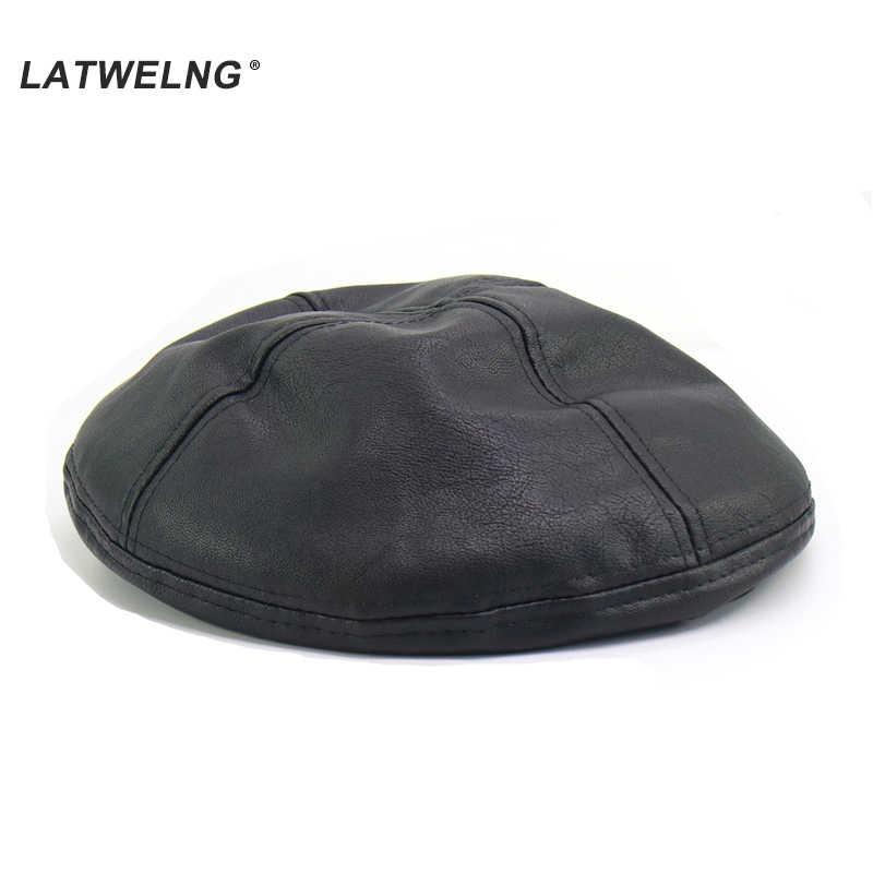 Новинка 2019, женские береты из мягкой кожи, Высококачественная французская шляпа, зимняя плоская кепка, женская черная шапка дредлок, оптовая продажа, Прямая поставка