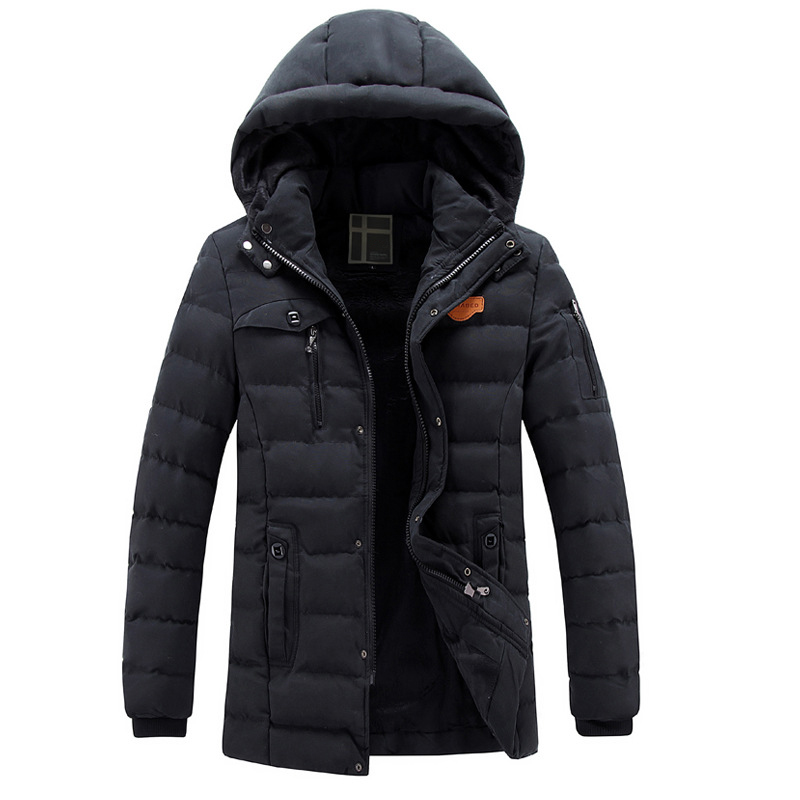 Casual New Thick Warm Medium Long Man Winter Coats Detachable Cap Velet Lining Manteaux Homme D Hiver