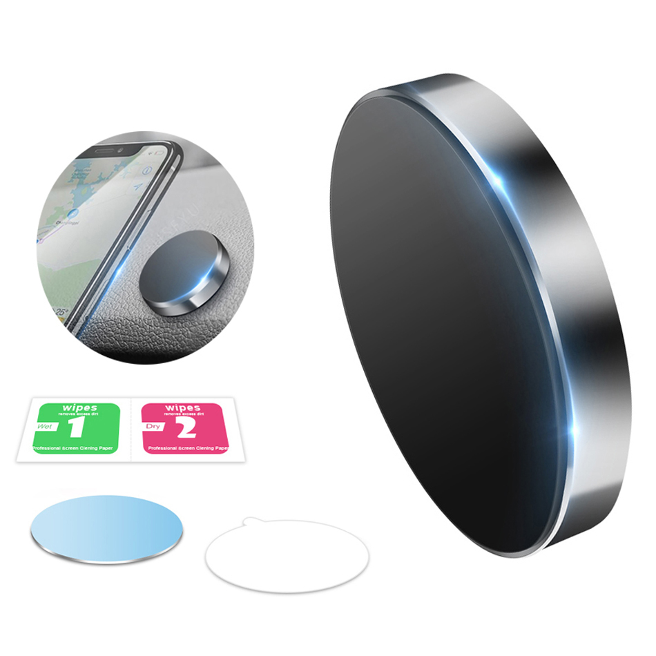 Magnetic Car Phone Holder Universal Wall Desk Metal Magnet Sticker Mobile Stand Phone Holder Car Mount Support for iPhone X XS