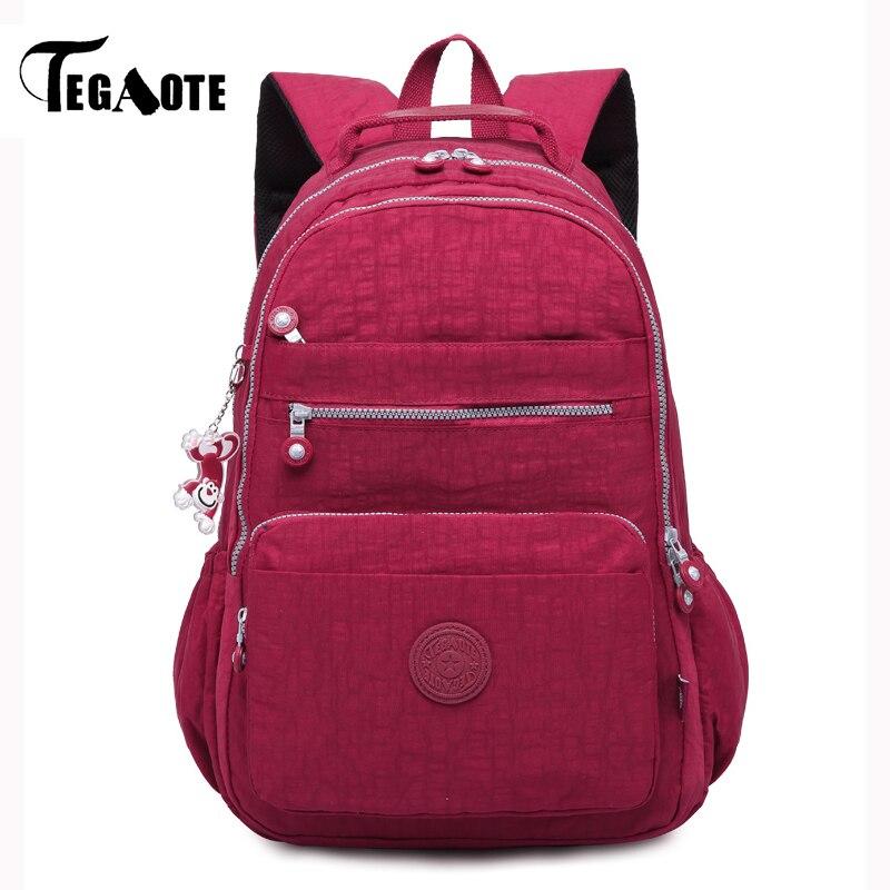 TEGAOTE Backpack Schoolbag Shoulder-Bag Nylon Travel Girls Teenage Female Women for Mochila