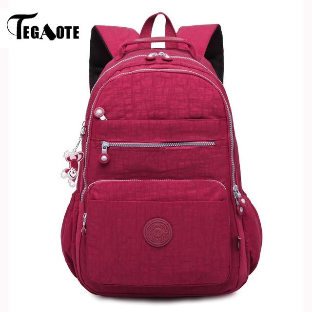 TEGAOTE Mochila Feminina Backpack for Teenage Girls School Backpack Women  Nylon Bagpack Travel Back Pack Female 3437f1a2c1cd1