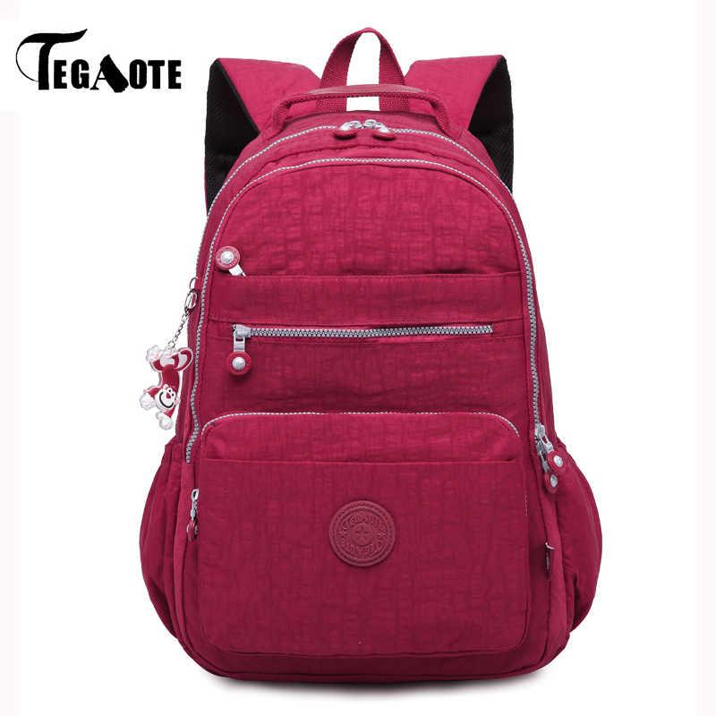 99ecc89f2601 TEGAOTE Mochila Feminina Backpack for Teenage Girls School Backpack Women  Nylon Bagpack Travel Back Pack Female