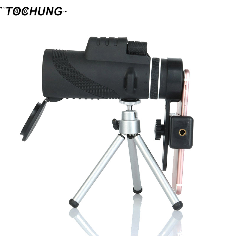 TOCHUNG monocular 40x60 Hd 12x zoom lens for mobile phone mobile phone monocular telescope sightseeing camera