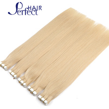 Blonde Brazilian Tape In Human Hair Extension Remy Silky Straight 7A Grade Unprocessed Straight Virgin Brazilian Tape Extensions